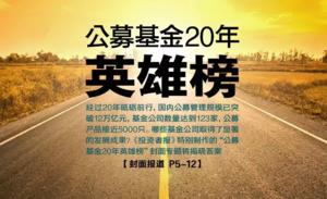 重磅 | 公募基金20年风雨兼程 超长马拉松英雄榜揭晓(附名单)