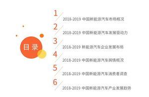2018-2019中国新能源汽车产业研究与投资分析报告